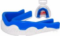 Капа боксерская Power Play 3303 (детская, бело-синяя)