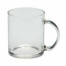 Чашка стеклянная прозрачная с лого