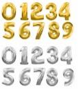 Цифры из маленьких шаров и из фольги