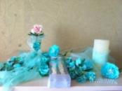 Набір на весілля із ревелюру в м`ятних відтінках /Можливе виконання в різних кольорах/