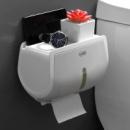 Держатель для туалетной бумаги настенный с полочкой и держателем телефона