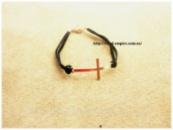 Браслет «Крест» черный на ремешке.