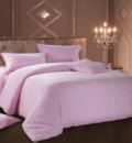 Комплект постельного белья Love You Страйп-сатин «Светло-розовый» Евро