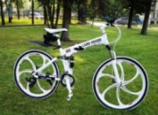 Элитный Велосипед LAND ROVER White на литых дисках