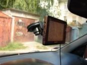 GPS навигатор с подключенным радар детектором Bellfort  Mustang