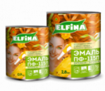 Эмаль 0,9 кг, бежевая, Elfina ПФ-115