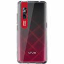 TPU чехол Epic clear flash для Vivo V15 Pro Бесцветный / Красный