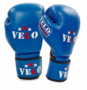 Перчатки боксерские профессиональные AIBA VELO кожаные 10,12oz синие
