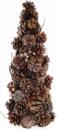Декоративная елка «Шишки золотистые» 38см с натуральными шишками