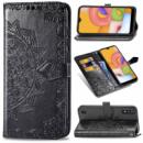 Кожаный чехол (книжка) Art Case с визитницей для Samsung Galaxy A01 Черный
