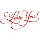 Наклейка Интерьерная Love You