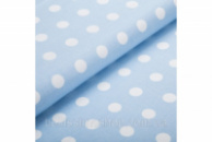 Простынка на резинке (мини) «Горох на голубом»