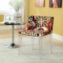 Дизайнерское кресло, Стул Фантазия акриловый, дизайнерский стул с мягкой оббивкой, Fantasy, 50*47*76, Реплика