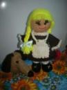 Кукла школьница вязаная