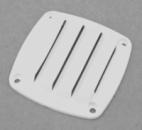 Решётка вентиляционная,белый пластик 76х76MM