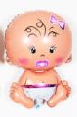 Шар фольгированный Карапуз девочка 67 см