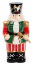 Банка для новогодних сладостей «Щелкунчик» 3л керамическая зеленая