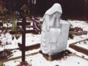 Скорбящая с кульптура из мрамора №6