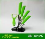 Набор керамических кухонных ножей Beryl 3456 + нож для чистки овощей + коробка