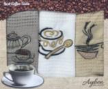 Набор 3 кухонных полотенца Ayben M4805 35х50, вафельные