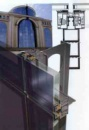 Остекление структурной фасадной системой из алюминия .
