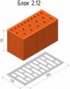 Керамический поризованый блок 2,12 НФ