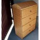 Комод плетеный из лозы «4-ка Мебельный дутый верх»