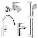 Grohe BauLoop 123225K набор смесителей для кухни и ванной S-Size