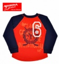 Реглан (футболка длинный рукав) для мальчиков «Аризона» красный, бренд «Arizona Jeans Co» (США)
