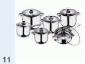 Набор посуды Вельберг (6,0/3,5/3,5/2,5/1,8/1,8) WB 1196