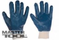 Перчатки масло-бензостойкие утепленные, нитриловое покрытие, вязаный манжет (синие),10,5« 104-108 г Господар 83-0406
