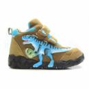 Ботинки коричневые с голубым T-Rex