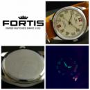 Мужские механические винтажные часы Fortis швейцарские 80s 38 мм