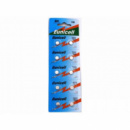 10x Батарейка таблетка AG1 LR621 LR60, алкалайн, 1 упаковка