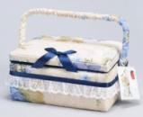 Шкатулка для рукоделия «Весна в Париже Beige with Blue», 21.5x16x10.5см