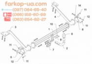 Фаркоп для Citroen Berlingo (длинная база L2=4680mm) (2008-2018)