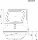 Акриловая ванна Bisante Визави 1900х1200х650 мм