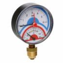 Термоманометр рад.с зап.клап 1/2(0-10бар)«Icma» №258