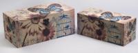 Набор из двух деревянных шкатулок «Дуардин Бабочка и Ромашка», 28x14x12см и 24x10x10см