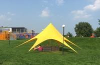Шатер Звезда для отдыха 10 метровая Цвет желтый на 20человек