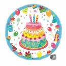 шар из фольги 45 см «тортик»