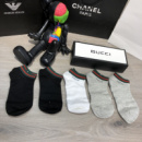 Socks Gucci Pack 5 Gray/Black/White/Black/Gray