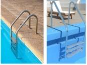 Лестницы из нержавеющей стали для бассейна с переливом модель Standart Classic 3 ступени