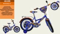 Велосипед 2-х коліс 12« 181209 (1шт) з звінком, дзеркалом,без ручного тормоза