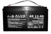 Гелевый аккумулятор Alva AS12-80Ач