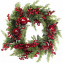 Новогодний декоративный венок из ягод «Сочный гранат» Ø60см