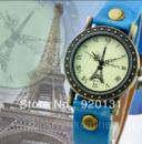 Наручные часы ретро унисекс «Ейфелева Башня» синие