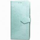 Кожаный чехол (книжка) Art Case с визитницей для Xiaomi Redmi 8 Бирюзовый