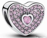 PANDORA шарм Кристальное сердце, S 925 ALE