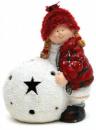Фигурка «Девочка с снежным шаром» 17см с LED-подсветкой